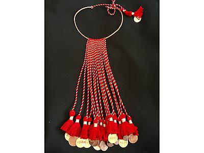 Collar Cobre - textil andino
