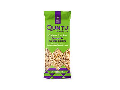 QUINOA WITH BANANA AND GOLDEN RAISINS CEREAL BAR