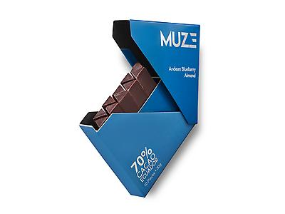 MUZE 70% Cacao with Almond & Andean Blueberry