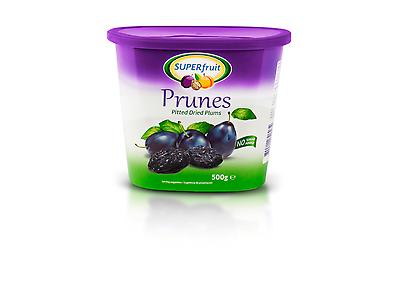 Pitted Prunes Cannester 500grs Retail Packaging