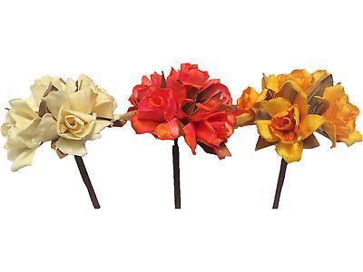 ROSA DE CASTILLA X5 SURTIDO, Colores beige, tornasol, amarillo y palo de rosa. Largo 65cm x Ancho 13cm. Empaque 80 unidades 80