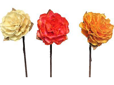 FLOR AZALIA GIGANTE SURTIDO, Colores beige, tornasol, amarillo y palo de rosa. Largo 66cm x Ancho 13cm. Unidad por empaque 180