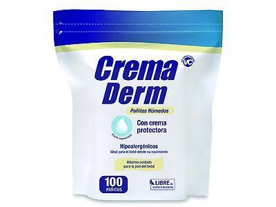CremaDerm Pañitos Húmedos Hipoalergénicos ,100 unidades