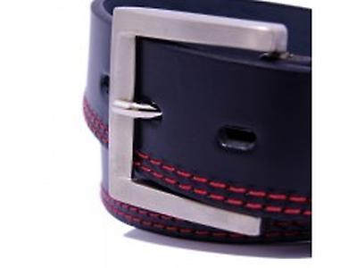 Cinturón Kuru doble costura roja