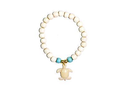 Coastal Tagua Bracelet - Turtle Version