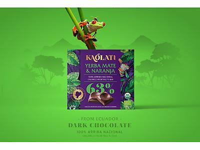 Barra de chocolate 63% cacao con yerba mate & naranja