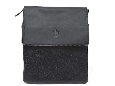 CROSSED LEATHER BAG