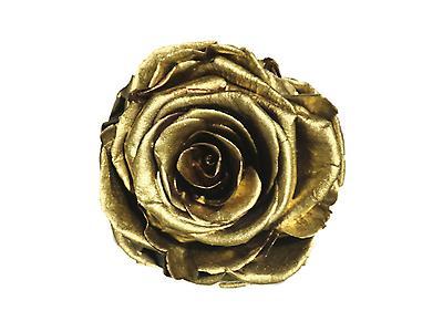 Rosa preservada tamaño mediano, color metalizado