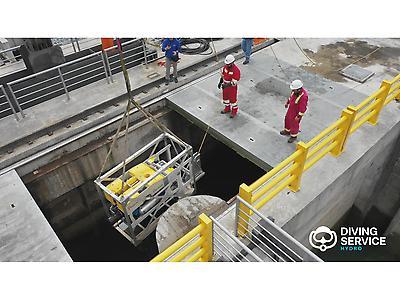 Inspección de túneles y tuberías