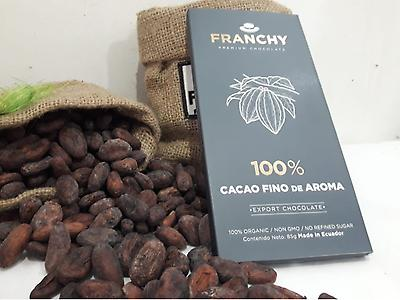 Barras de chocolate negro del 100%, 65%  y cafe