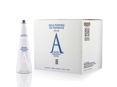 Andes Mountain Spring Water Still 750ml Glass
