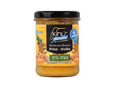 Mermelada sin azúcar Kinú Piña con Uvilla