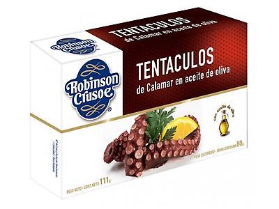 Tentáculos de Calamar al ajillo y aceite de oliva 170 gramos
