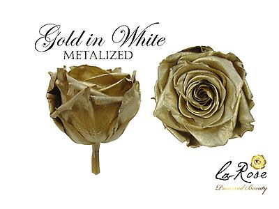 Preserved Rose Metalized
