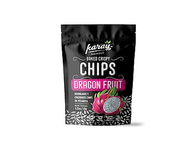Chips Crujientes al Horno de Pitahaya Roja