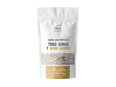Harina multipropósito de trigo, quinoa y algas marinas