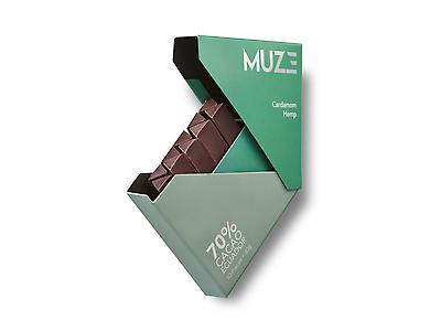 MUZE 70% Cacao with Hemp & Cardamom