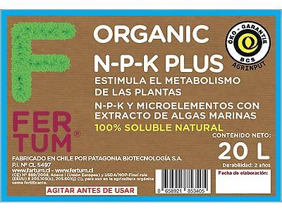 Fertum Organic N-P-K Plus